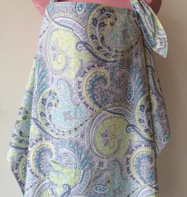 June & Dane Blue Paisley nursing cover