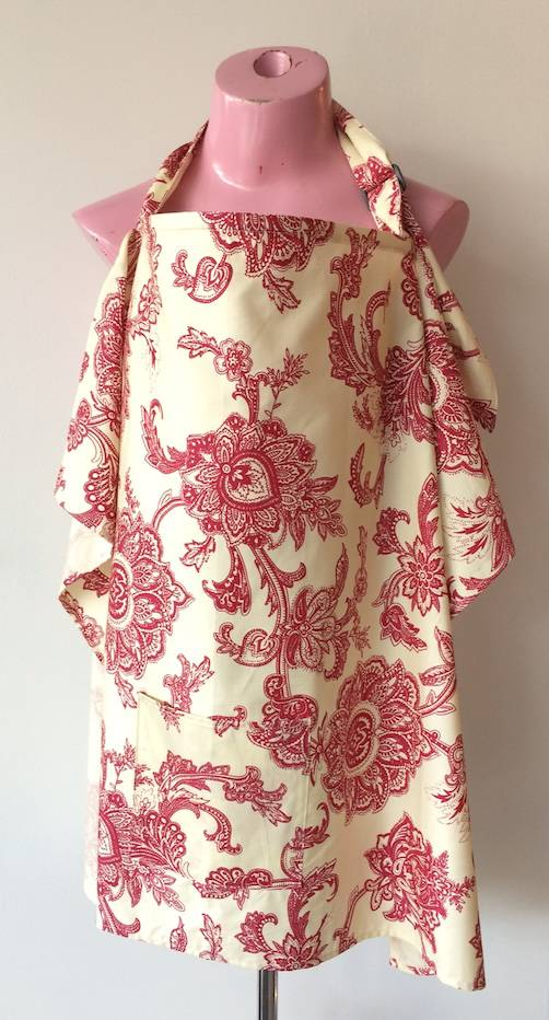 June & Dane nursing cover Damask Red