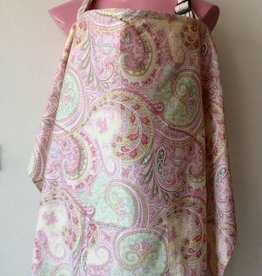 June & Dane Pink Paisley nursing cover