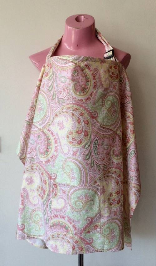 June Amp Dane Pink Paisley Nursing Cover Evymama Nursing