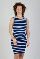 Momzelle Momzelle Megan nursing maternity dress Deep Sea Blue stripe