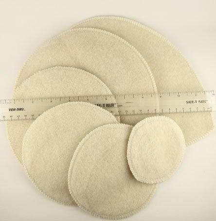 Lanacare Merino Wool Nursing Pads - Softline thickness