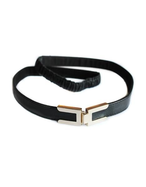 Seraphine Robyn Clasp Buckle Leather Stretch Belt