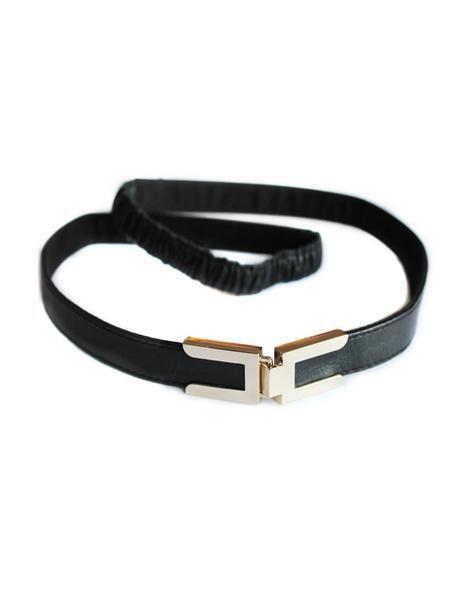 Seraphine Seraphine Robyn Clasp Buckle Leather Stretch Belt