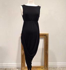 June & Dane Hi-Lo dress in Black