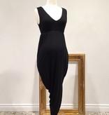 June & Dane June & Dane Hi-Lo nursing & maternity dress in Black