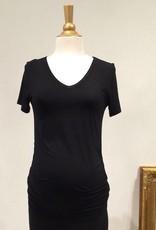 June & Dane June & Dane Ruched maternity t-shirt in Black