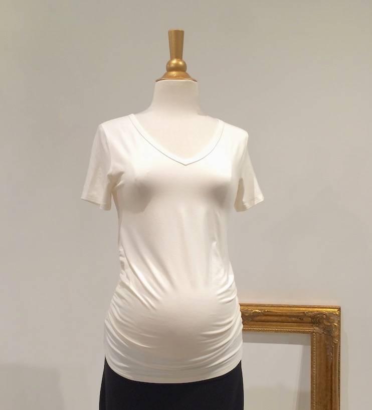 June & Dane June & Dane Ruched maternity t-shirt in Cream