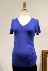 June & Dane Ruched maternity t-shirt in Blue