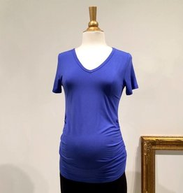 June & Dane Blue ruched maternity t-shirt