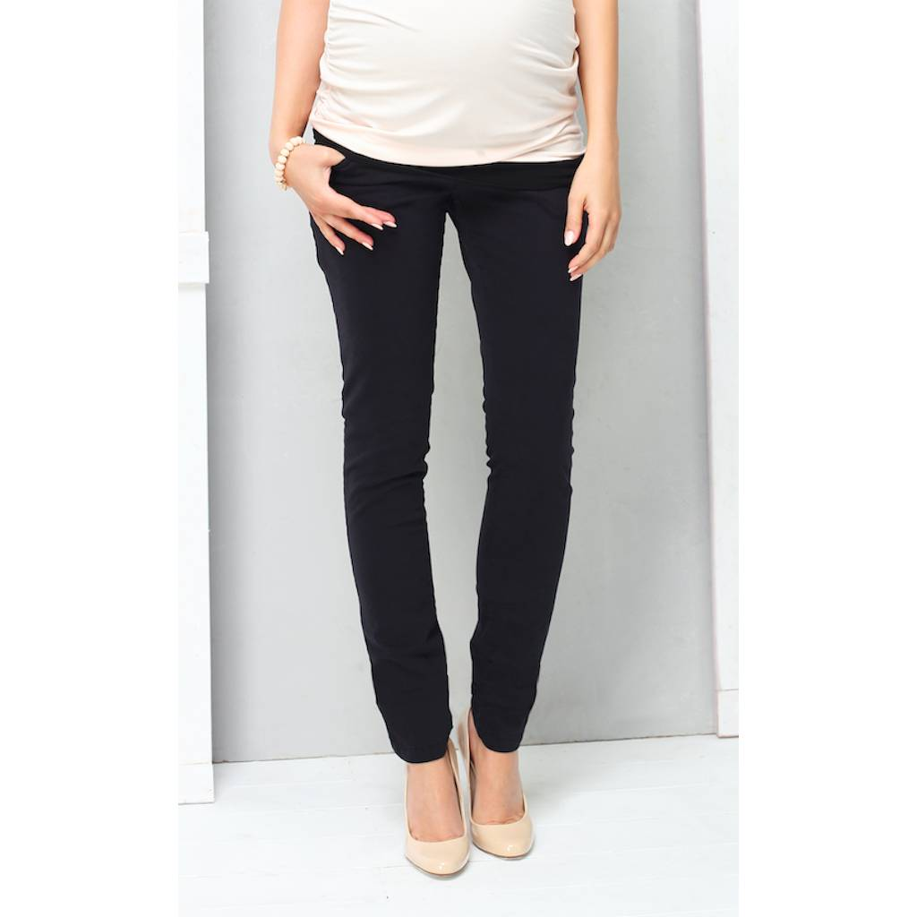 9fashion 9fashion Angario overbelly skinny maternity jeans Black