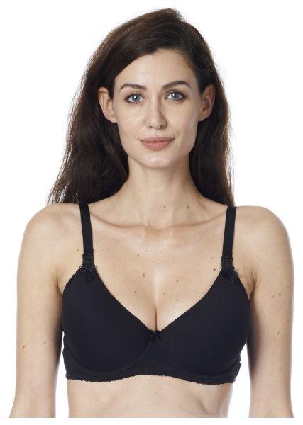 Noppies Black cotton jersey nursing bra