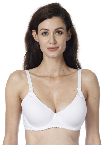 Cotton White underwire t-shirt bra