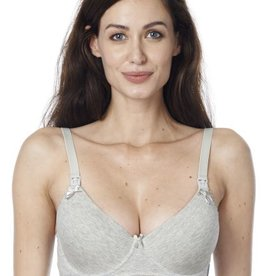 Cotton Grey nursing t-shirt bra - B cup
