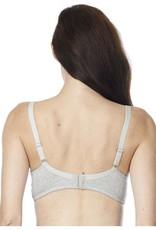 Cotton Grey underwire t-shirt bra