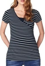 Noppies Noppies Lely Blue Striped nursing t-shirt