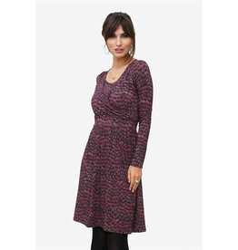 Milker Milker Zulu bordeaux dress
