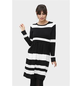 Milker Milker Eva black striped dress