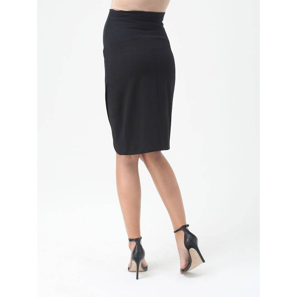 9fashion 9fashion Vaccaro petal maternity skirt in Black