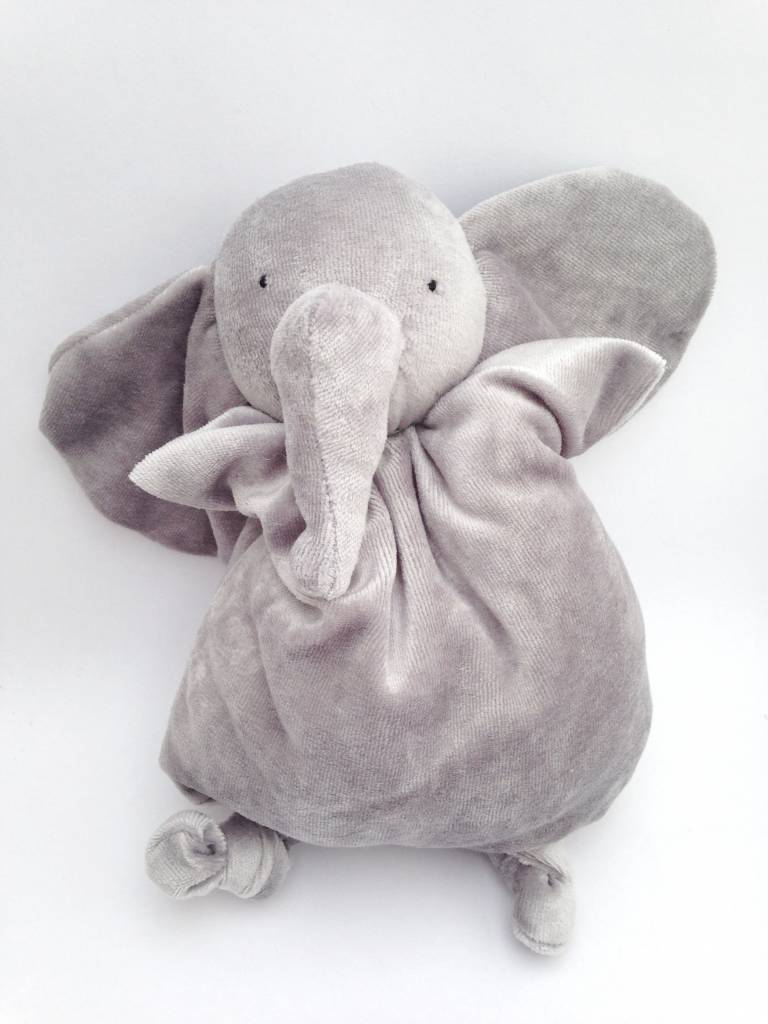 Papoum grey elephant soft toy