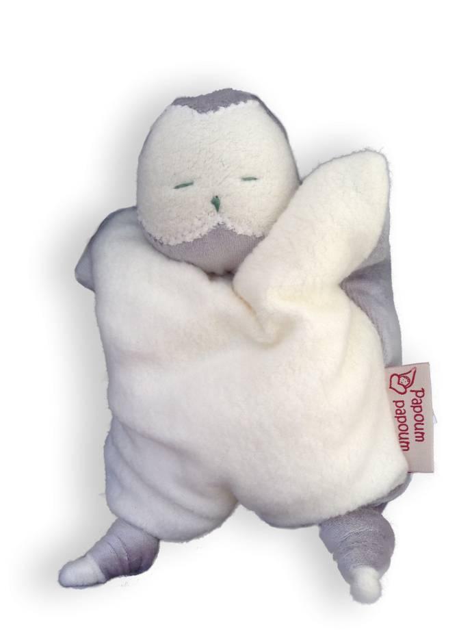 Papoum snowy owl soft toy