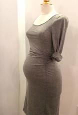 Ashley Nicole Best Friend maternity dress grey