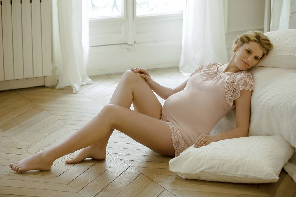 Cache Coeur Sofia lace short & tee pyjama Petal