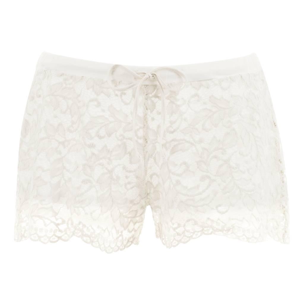 Sofia lace short & tee pyjama Pearl