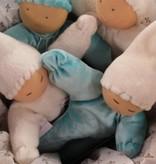 Papoum-Papoum Papoum elf in aqua with cream hat