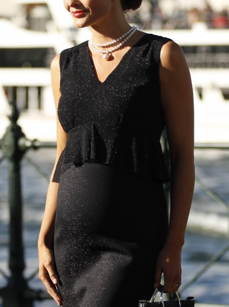 Sparkly Peplum Evening Dress