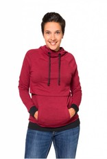 Momzelle Gaby Nursing Hoodie in Heather Red
