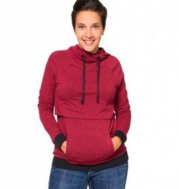 Gaby hoodie in Heather Red