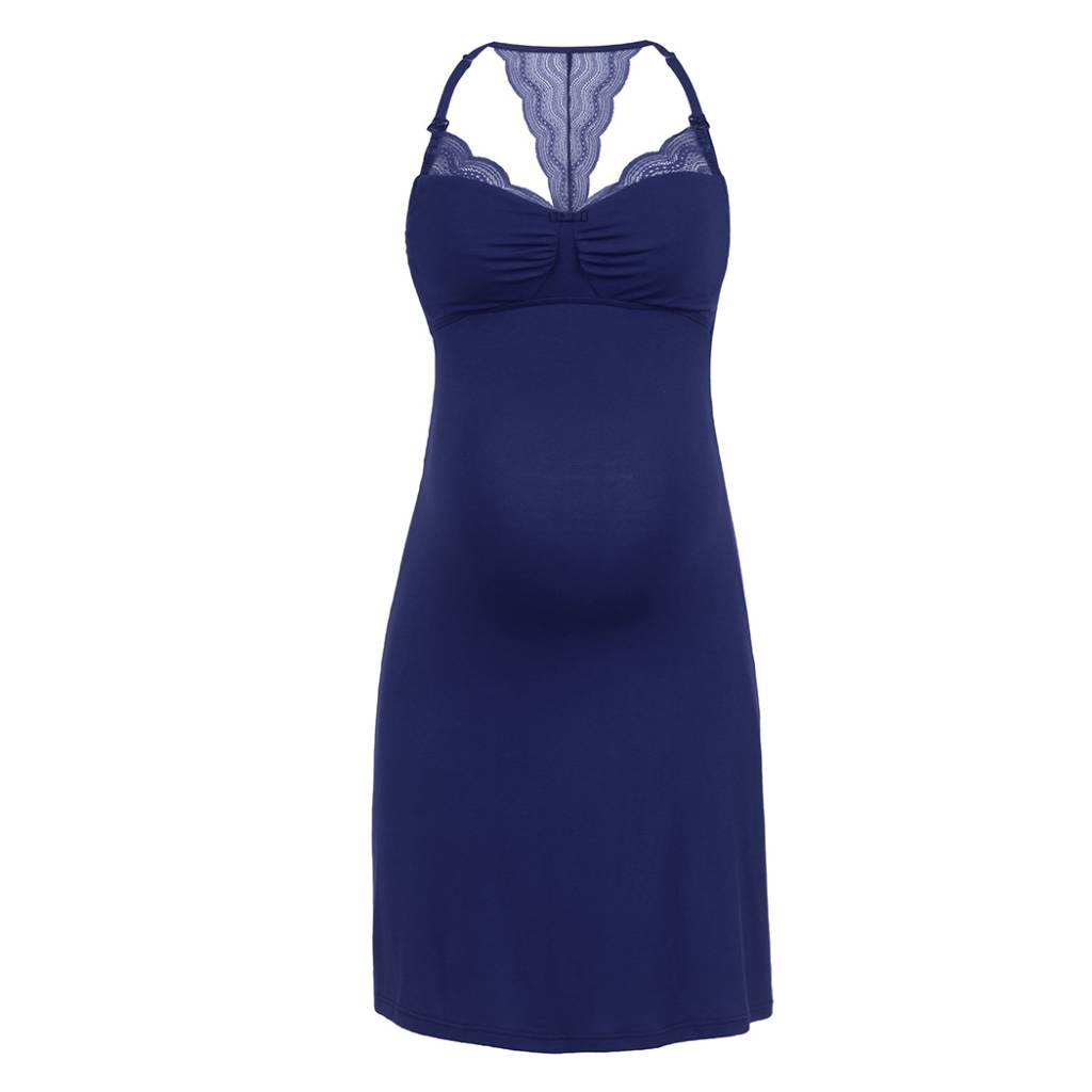 Cache Coeur Serenity nursing maternity nightdress in Royal Blue