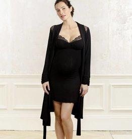 Serenity Bamboo Robe in Black
