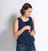 Momzelle Momzelle Isabelle nursing top in Navy Dot