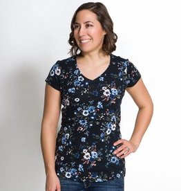 Momzelle Christine nursing t-shirt in Floral Print