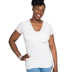 Momzelle Julie nursing top in Cloud Dancer