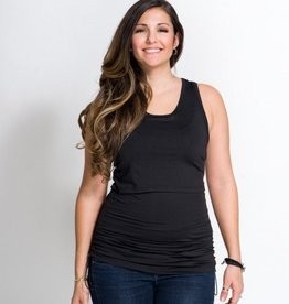 Chloe nursing yoga top Black