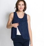 Momzelle Momzelle Maggie nursing top in Navy Dot