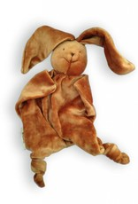 Papoum Brown Bunny lovey toy