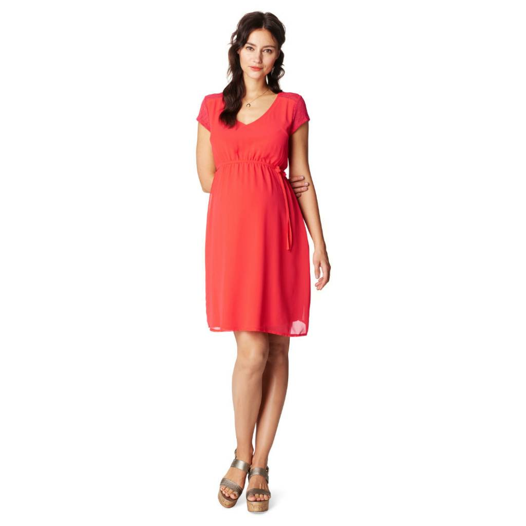 Noppies Noppies Noelle Coral Chiffon maternity dress
