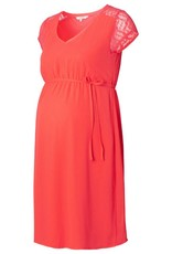Noppies Noelle Coral Chiffon maternity dress