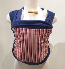 Navy with Red Stripe Stretchy Wrap