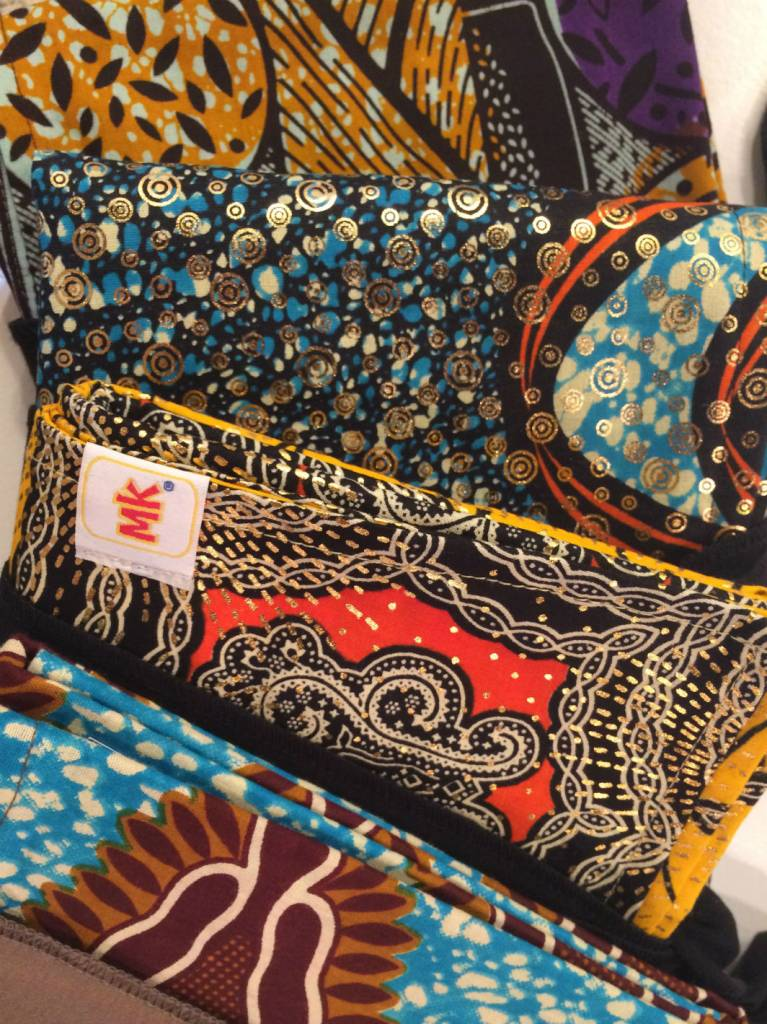 Maman Kangourou African Kanga wrap - Orange Grape