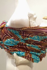 Maman Kangourou African Kanga wrap - Africa Blue