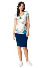 Noppies Vida maternity 3 in one skirt/dress in Blue