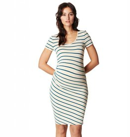 Lotus striped maternity dress