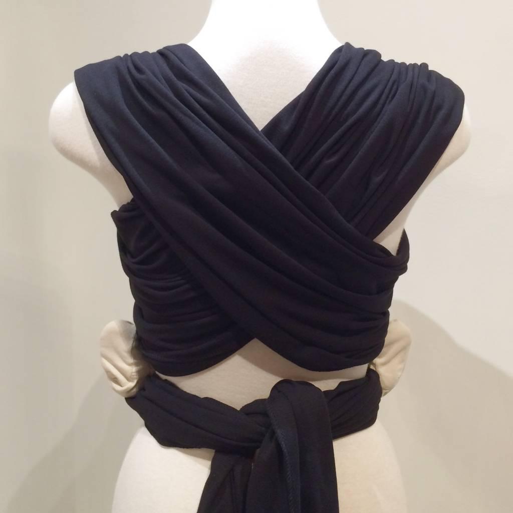 Maman Kangourou Stretchy Wrap - Black Ringed