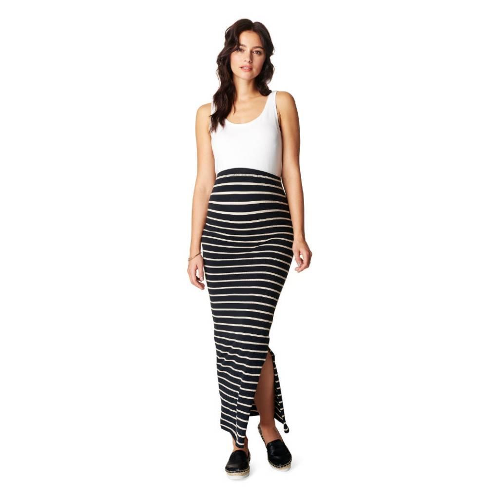 Lima striped maternity maxi skirt & strapless dress