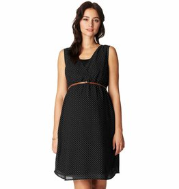 Marit printed maternity dress in Black